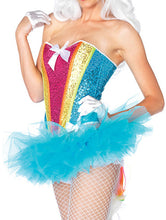 Load image into Gallery viewer, Rainbow Sequin Corset Top - Unicorn Roll