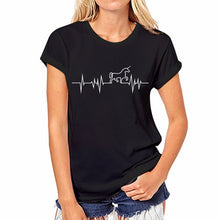 Load image into Gallery viewer, Unicorn Heartbeat T Shirt Women - Unicorn Roll