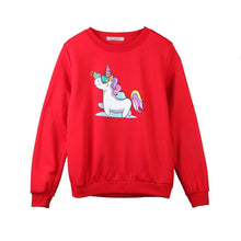 Load image into Gallery viewer, Sparkly Unicorn Sweatshirt - Unicorn Roll