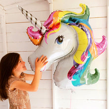 Load image into Gallery viewer, Unicorn Birthday Balloon - Unicorn Roll