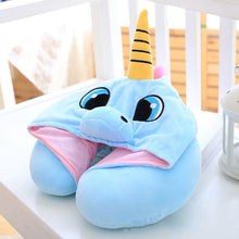 Load image into Gallery viewer, Unicorn Stuffed Travel Pillow - Unicorn Roll
