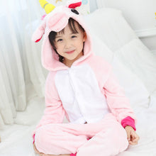 Load image into Gallery viewer, Pink Children Unicorn Pajamas - Unicorn Roll