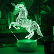 Load image into Gallery viewer, 7-Color 3D LED Unicorn Night Light - Unicorn Roll