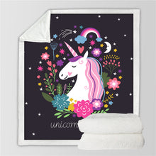 Load image into Gallery viewer, Unicorn Plush Throw Blanket - Unicorn Roll