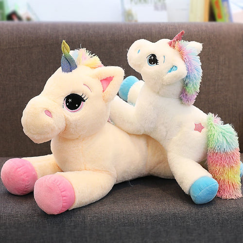 Laying Rainbow Unicorn Plush Toy - Unicorn Roll