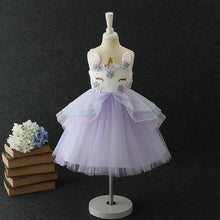 Load image into Gallery viewer, Unicorn Ball Gown Dress for Girls - Unicorn Roll