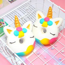 Load image into Gallery viewer, SQUISHY™ Jumbo Unicorn Donut Squishy Toy - Unicorn Roll