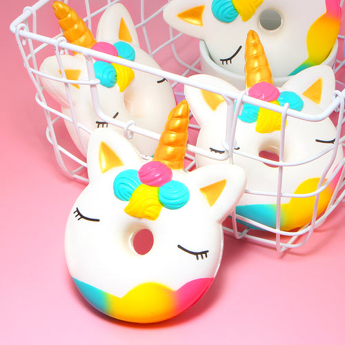 SQUISHY™ Jumbo Unicorn Donut Squishy Toy - Unicorn Roll