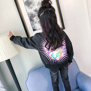 Stylish Unicorn Bomber Outerwear Jacket - Unicorn Roll