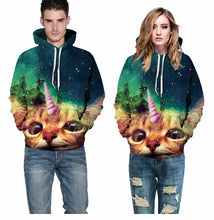 Load image into Gallery viewer, Unicorn Galaxy Cat Hoodie - Unicorn Roll