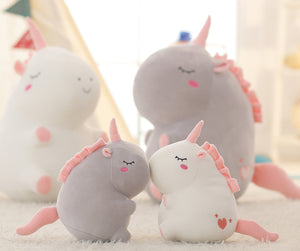 Cuddly Unicorn Stuffed Animal - Unicorn Roll