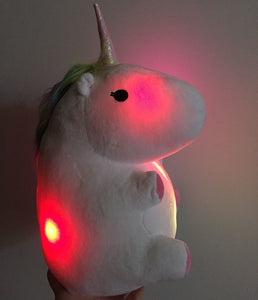 Glowing Unicorn Plush Toy - Unicorn Roll