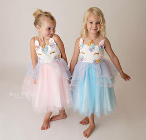 Unicorn Ball Gown Dress for Girls - Unicorn Roll