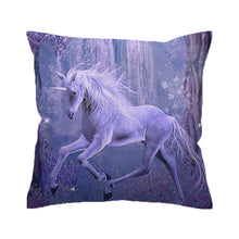 Load image into Gallery viewer, Purple Unicorn Cushion Cover Pillow Case - Unicorn Roll