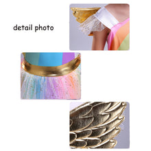 Load image into Gallery viewer, Girls' Rainbow Unicorn Dress With Headband - Unicorn Roll