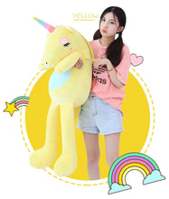 Load image into Gallery viewer, Giant Sitting Unicorn Plush Toy - Unicorn Roll