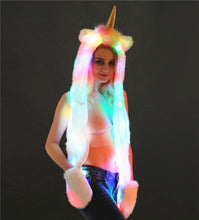 Load image into Gallery viewer, LED Unicorn Hooded Scraf and Gloves Set - Unicorn Roll