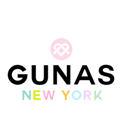 GUNAS New York logo | GUNAS New York designer vegan handbags, shoes & wallets at Ecoture