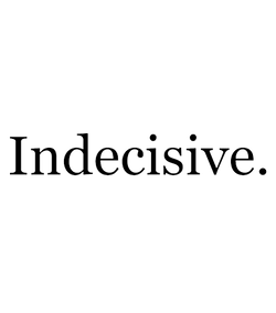 Indecisive logo | Indecisive modern & relaxed eco-luxury women's fashion at Ecoture