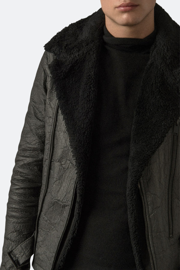 Men's Faux Shearling Detachable Collar