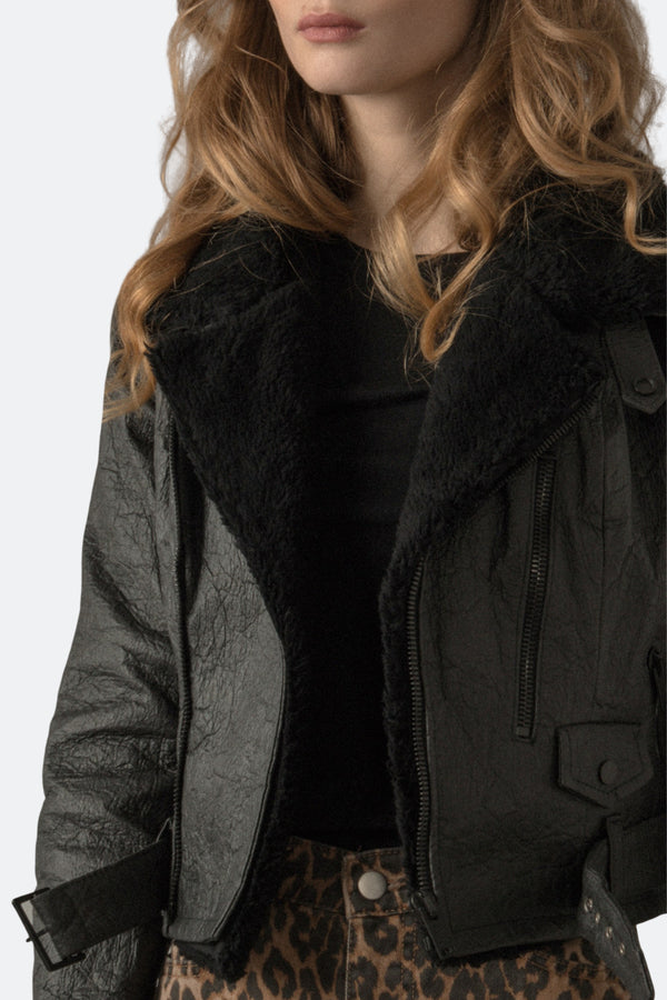 Women's Faux Shearling Detachable Collar