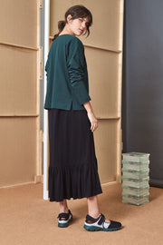 Breton Sweater | Bottle Green - Kowtow | Ecoture