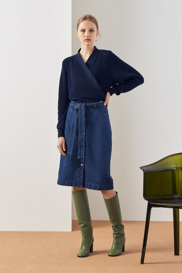 Composure Cardigan | Navy - Kowtow | Ecoture