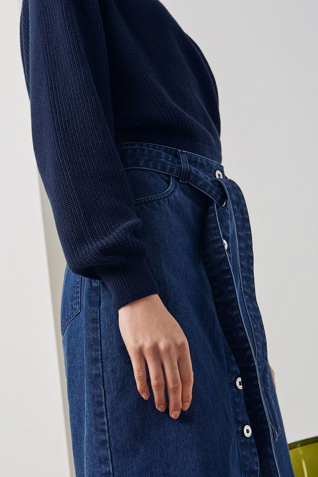 Button-Up Skirt | Denim - Kowtow | Ecoture