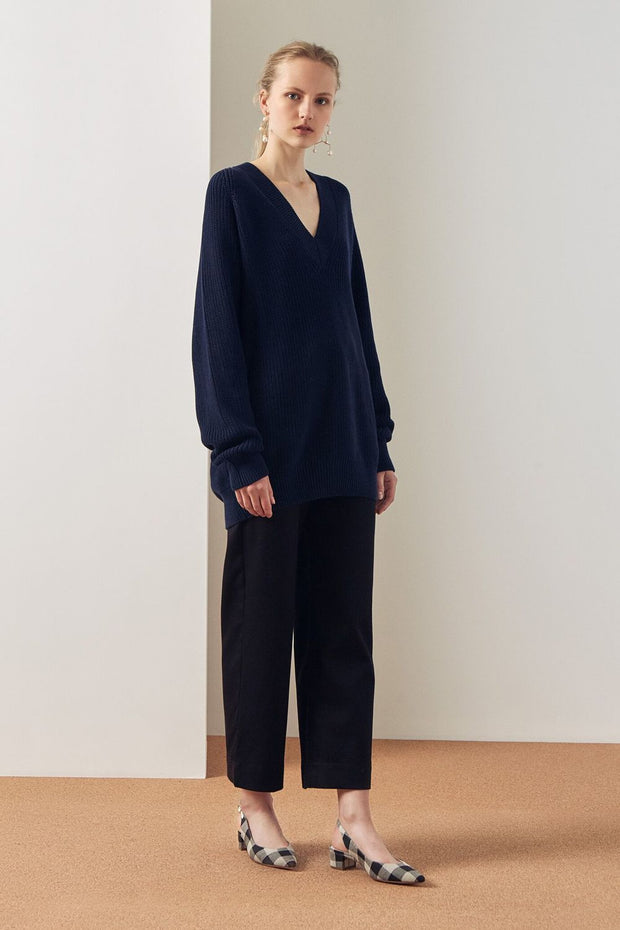 Link Sweater | Navy - Kowtow | Ecoture