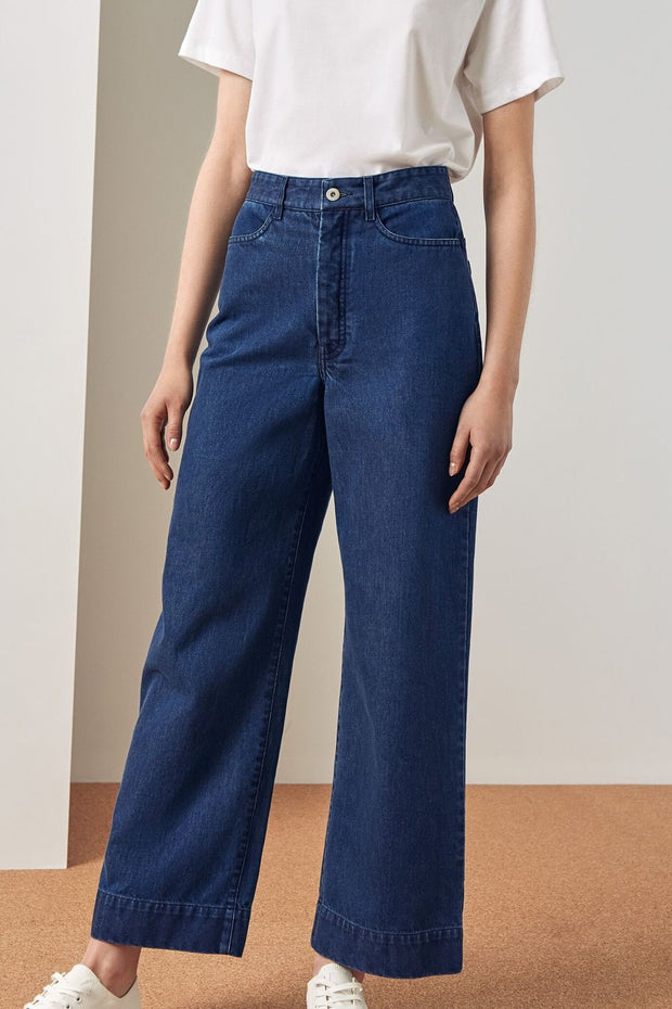 Stage Pant | Denim - Kowtow | Ecoture