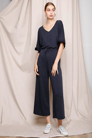 Ashley Jumpsuit | Midnight Blue - Noumenon | Ecoture
