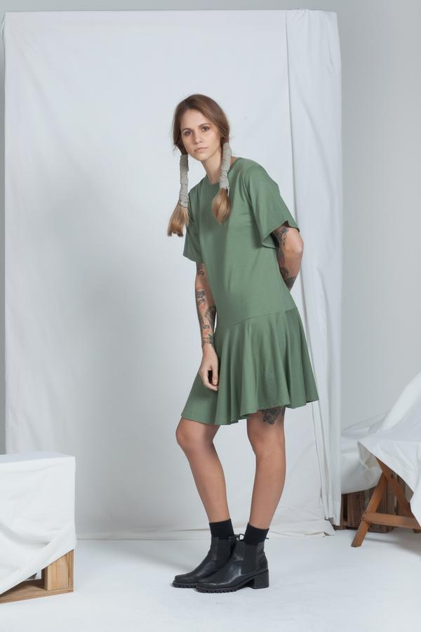 Adjoin Dress | Khaki - ReCreate | Ecoture