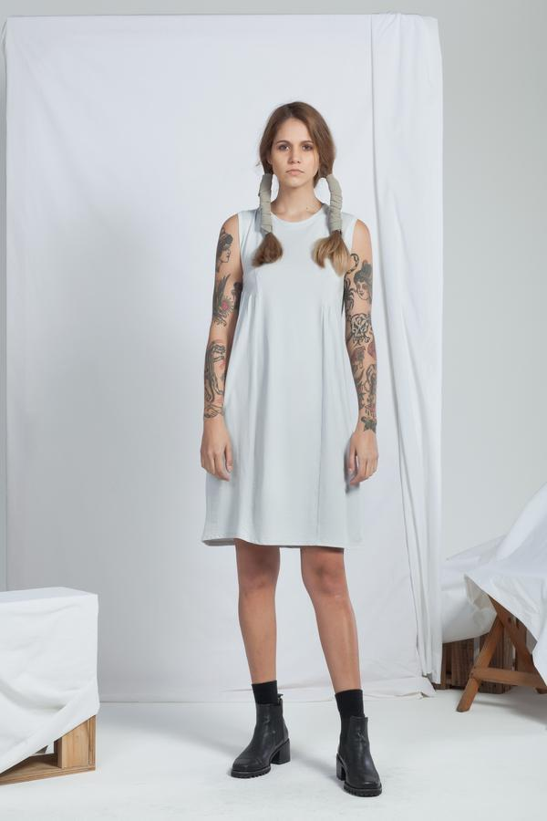 Cascade Dress | Pale Grey - ReCreate | Ecoture