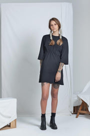 Cinch Dress | Black - ReCreate | Ecoture