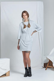 Cinch Dress | Pale Grey - ReCreate | Ecoture