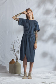Divide Dress | Soft Navy