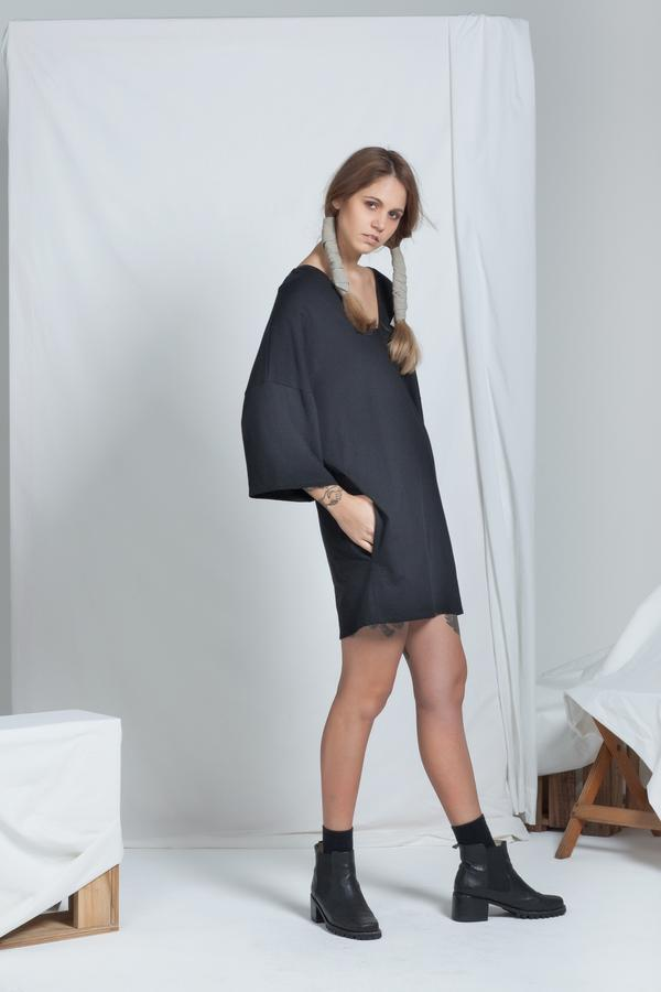 Dual Reversible Dress | Black - ReCreate | Ecoture
