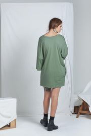 Dual Reversible Dress | Khaki - ReCreate | Ecoture