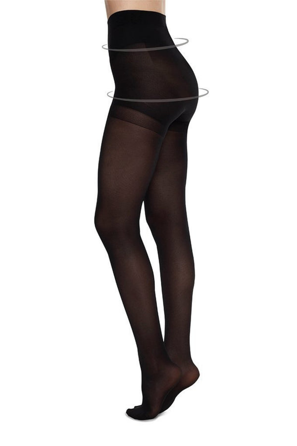 Anna Control Top Tights | Black