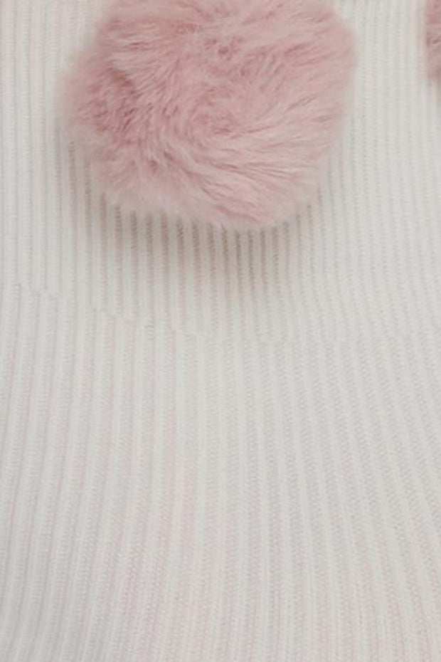 Ebba Pom-Pom Socks | Dusty Rose - Swedish Stockings | Ecoture