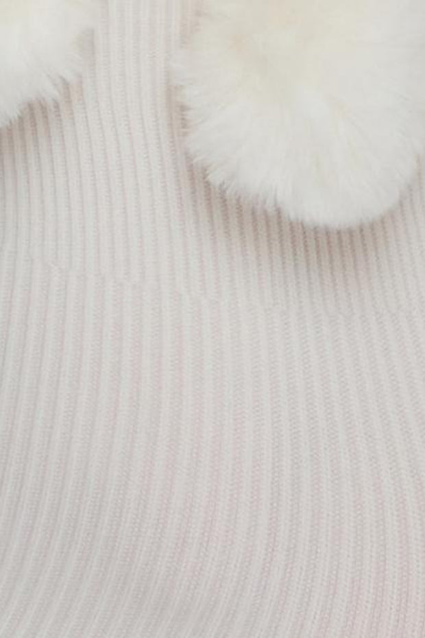 Ebba Pom-Pom Socks | Ivory - Swedish Stockings | Ecoture