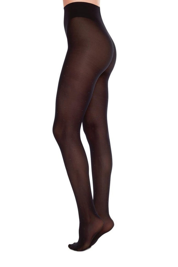 Filippa Dots Tights | Black