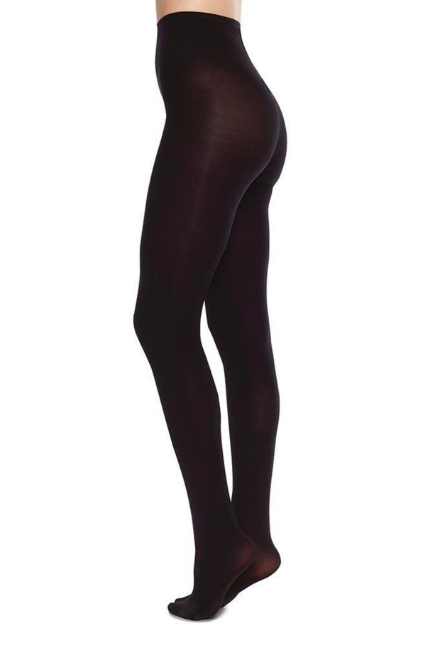 Lia Opaque Premium Tights | Black - Swedish Stockings | Ecoture