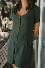 Safari Romper | Moss - Tasi Travels | Ecoture