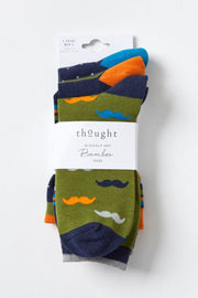 Moustache Socks | 3 Pack - Thought | Ecoture