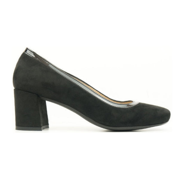 'Suede' Block Heel | Black