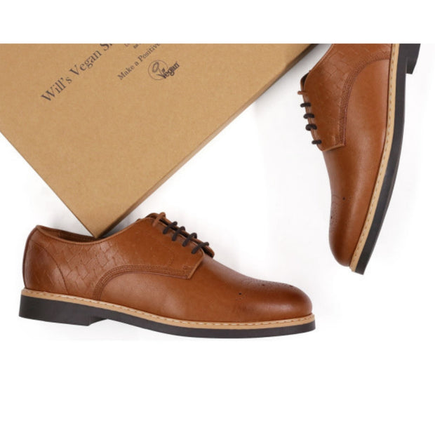 Signature Brogue | Tan - Will's Vegan Shoes | Ecoture