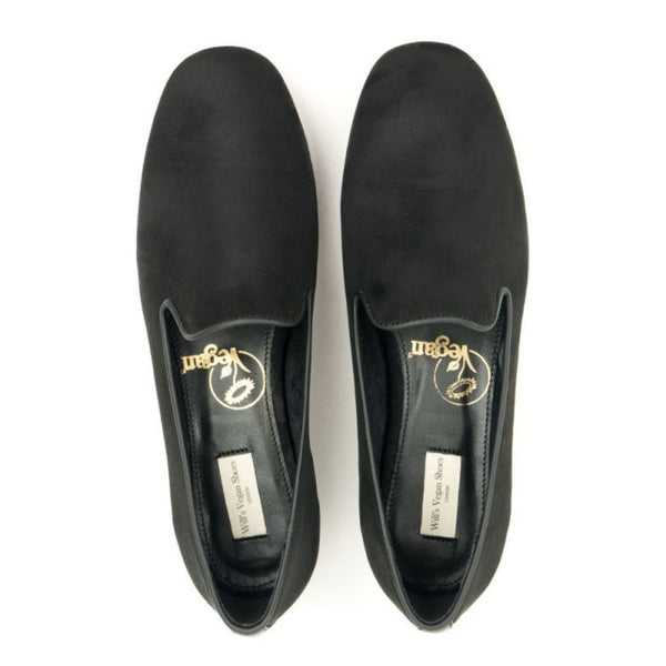 'Suede' Slip-On Loafer | Black