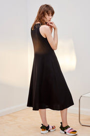 A-Line Singlet Dress | Black - Kowtow | Ecoture