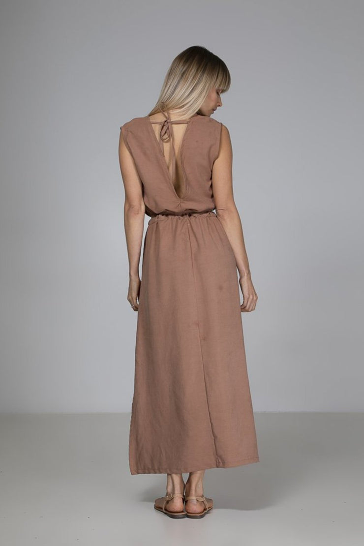 Abigail Dress | Taupe - Indecisive | Ecoture